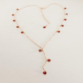 Collana in argento 925 con bagno in oro puro (rosa)