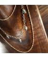 Collana in argento 925 con bagno in oro puro