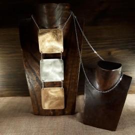 Collar Design en Plata de Ley y bronce