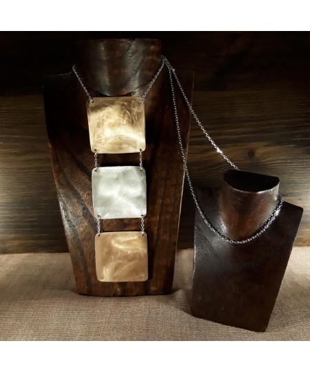 Collana Design in argento 925 e bronzo